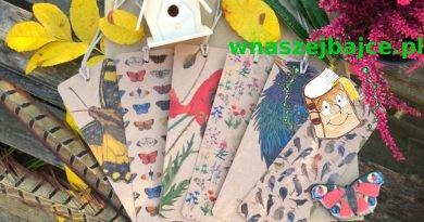 Dwustronne zakładki LAS i NIEBO – 30 wzorów: ptaki, motyle, kwiaty polne!