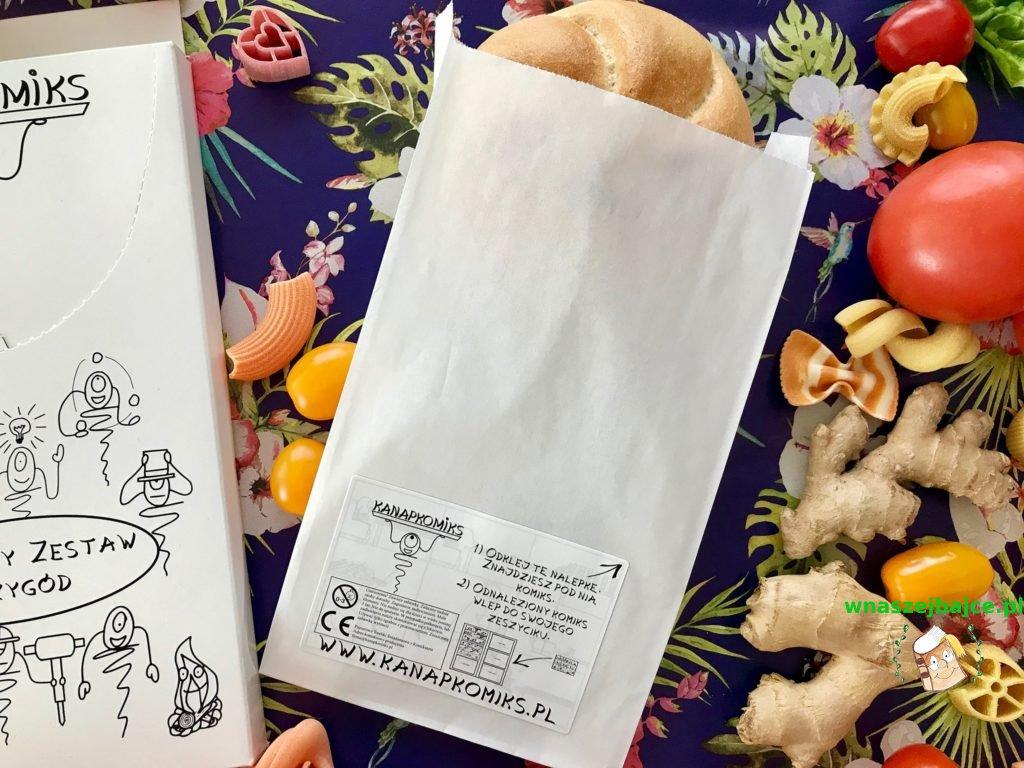 komiks na torbie papierowej